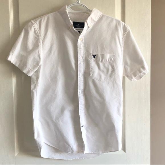 🐈 Men's American Eagle White Button Up Shirt